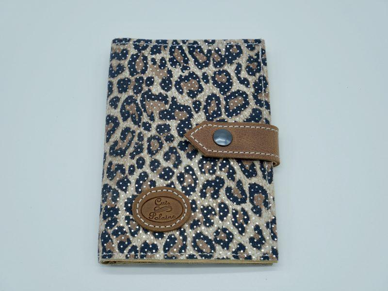 Portefeuille cuir leopard marron femme grand modèle, par Cuir Polaine, Artisan Créateur, Artisan de France